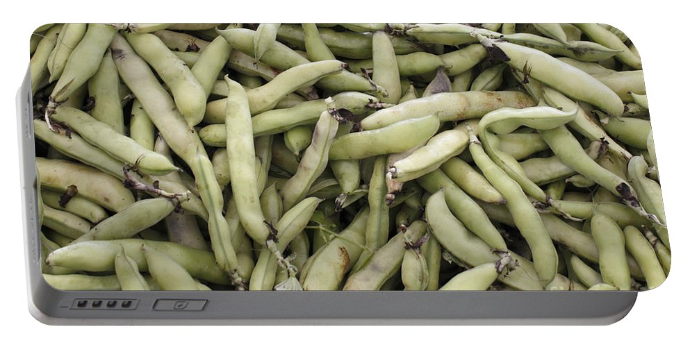 Fava Portable Battery Charger featuring the photograph Fava Beans by Lee Serenethos