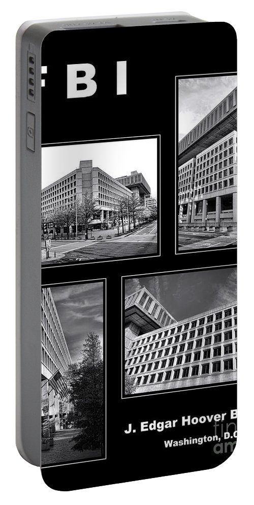 Fbi Poster Portable Battery Charger featuring the photograph Fbi Poster by Olivier Le Queinec