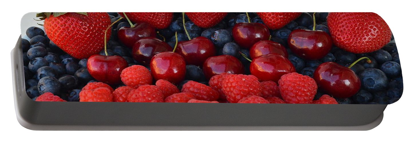 Fruit Portable Battery Charger featuring the photograph Feast Of Fruit by Frozen in Time Fine Art Photography
