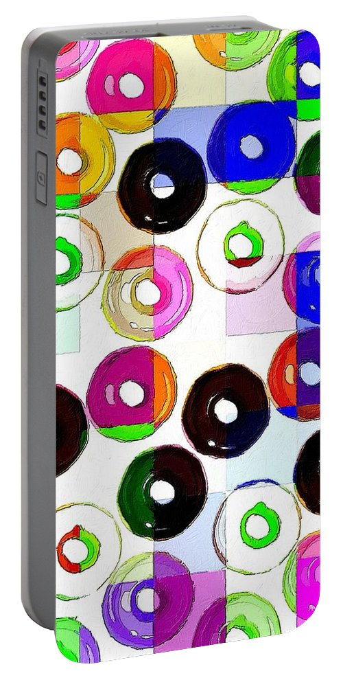 Donut Portable Battery Charger featuring the painting Feast Your Eyes by Florian Rodarte