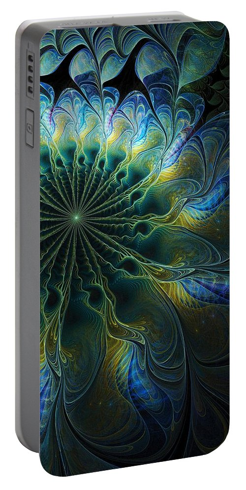 Digital Art Portable Battery Charger featuring the digital art Feathered by Amanda Moore