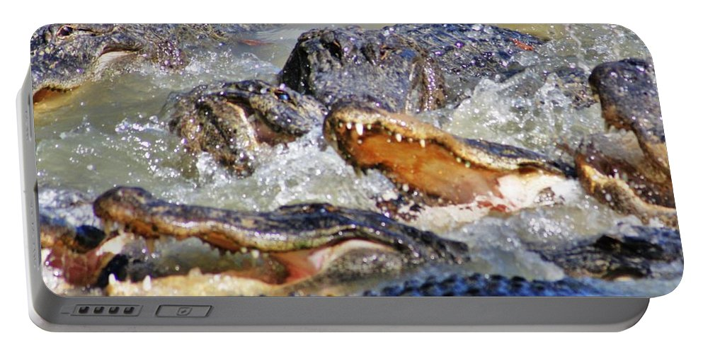 Swamp Portable Battery Charger featuring the photograph Feedingtime 2 by Chuck Hicks
