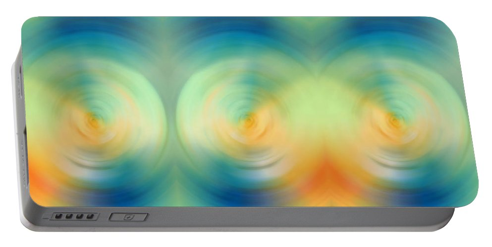 Energy Portable Battery Charger featuring the painting Feel Joy - Energy Art By Sharon Cummings by Sharon Cummings