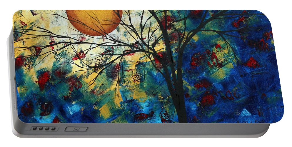 Decorative Portable Battery Charger featuring the painting Feel The Sensation By Madart by Megan Duncanson