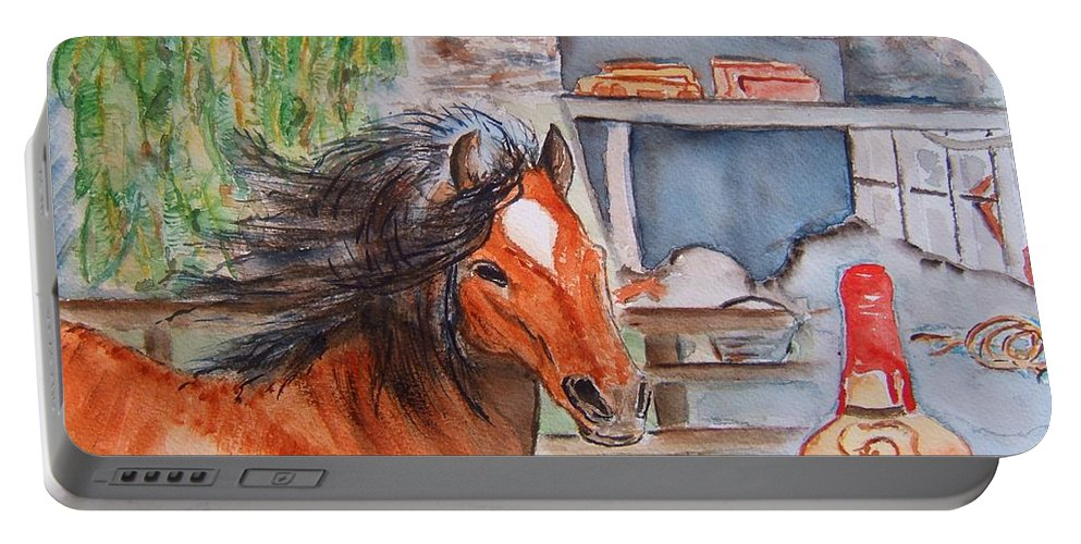 Kentucky Portable Battery Charger featuring the painting Feeling Kentucky by Elaine Duras