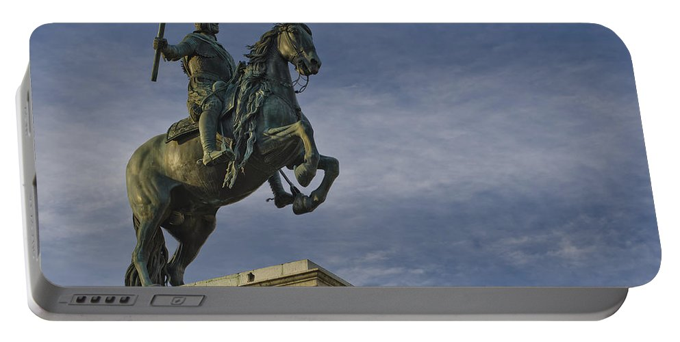 Spanish Portable Battery Charger featuring the photograph Felipe Iv by Pablo Lopez