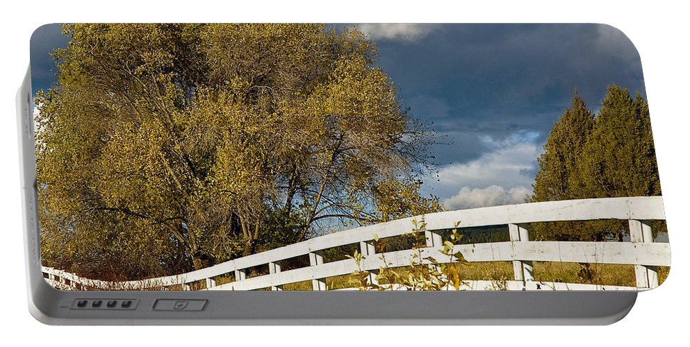 Fence Portable Battery Charger featuring the photograph Fence by Michele Wright