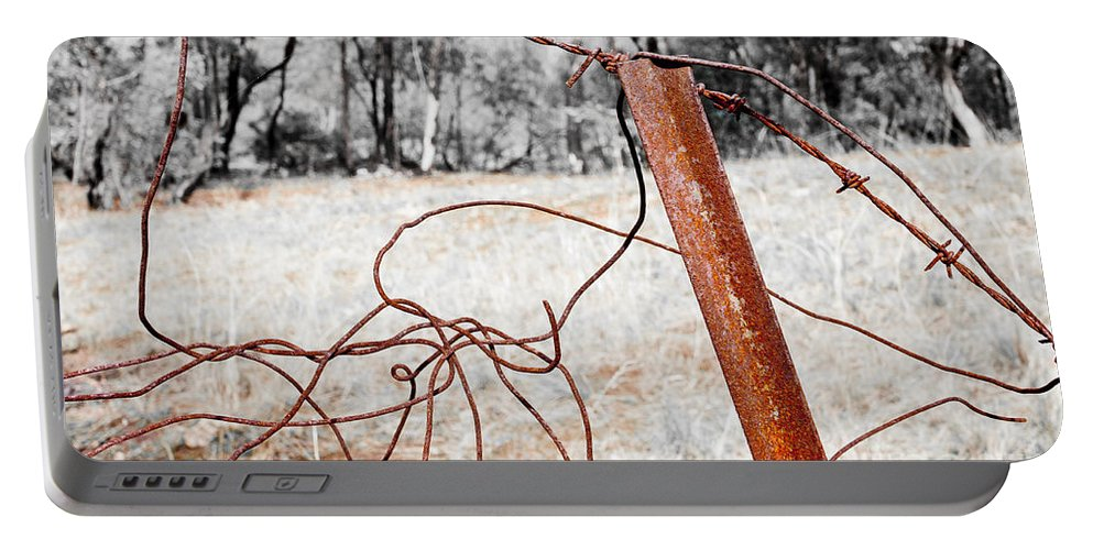 Australia Portable Battery Charger featuring the photograph Fence by Steven Ralser