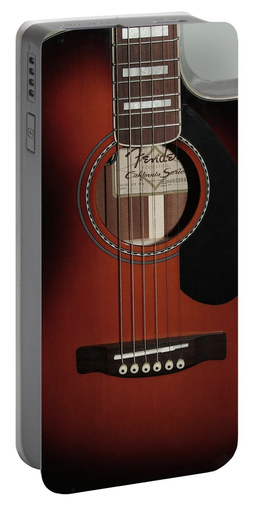 Fender Portable Battery Charger featuring the photograph Fender by Linda Sannuti