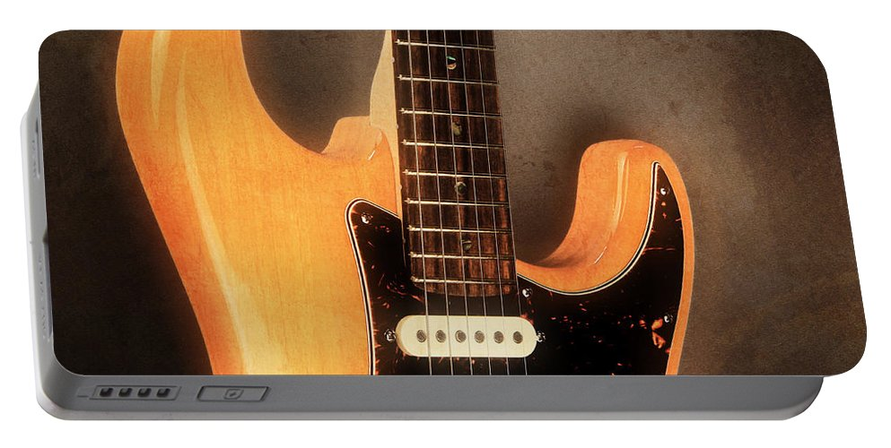 Guitar Portable Battery Charger featuring the photograph Fender Stratocaster Electric Guitar by John Cardamone
