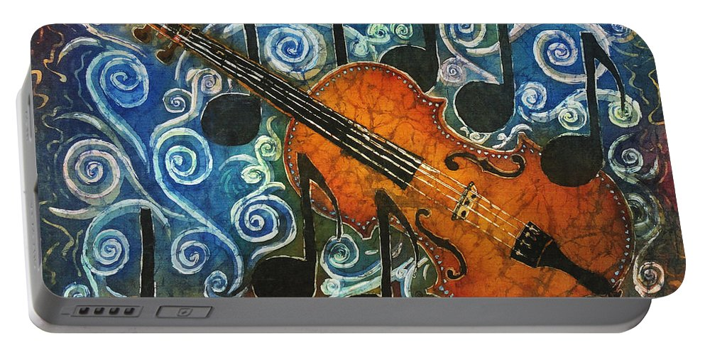 Fiddle Portable Battery Charger featuring the painting Fiddle 1 by Sue Duda