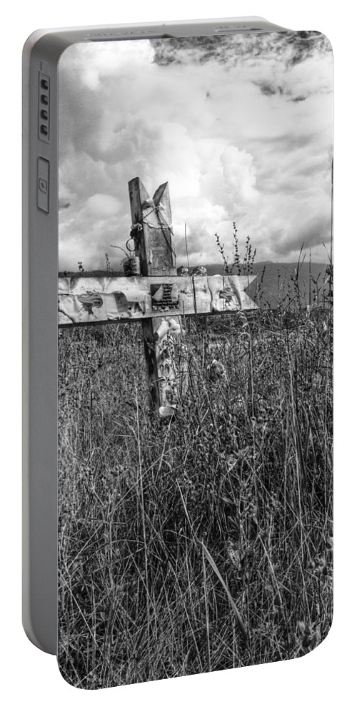 Graveyard Portable Battery Charger featuring the photograph Field Of Faith by The Artist Project