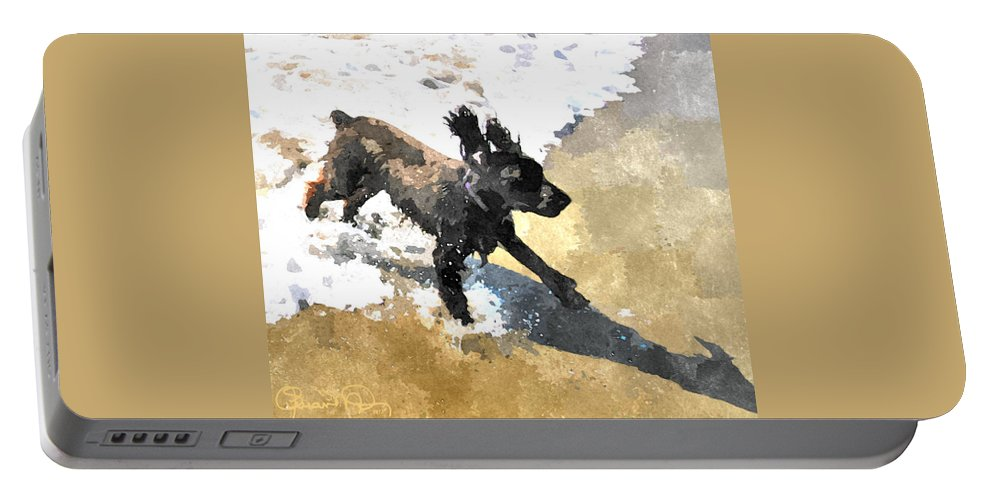 susan Molnar Portable Battery Charger featuring the photograph Field Spaniel Joy by Susan Molnar