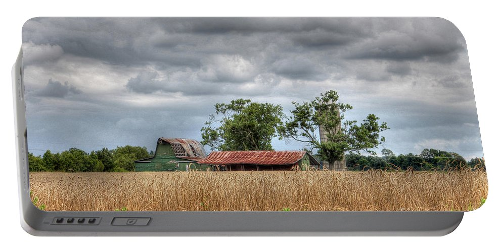 North Carolina Portable Battery Charger featuring the photograph Fields Of Golden Grain by Benanne Stiens