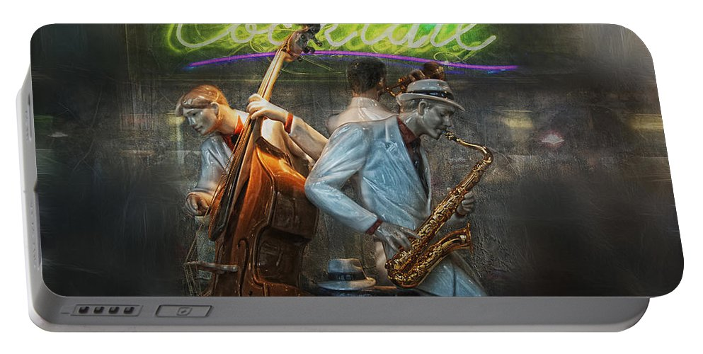 Jazz Portable Battery Charger featuring the photograph Fifties Cocktail Jazz by Joachim G Pinkawa