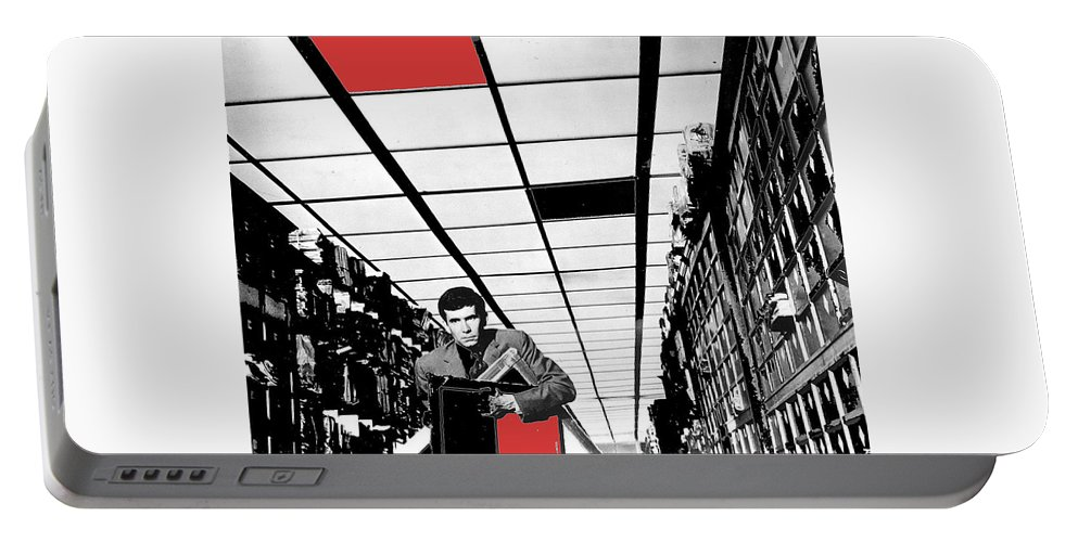 Film Homage Anthony Perkins Orson Welles The Trial 1962 Color Added Portable Battery Charger featuring the photograph Film Homage Anthony Perkins Orson Welles The Trial 1962 by David Lee Guss