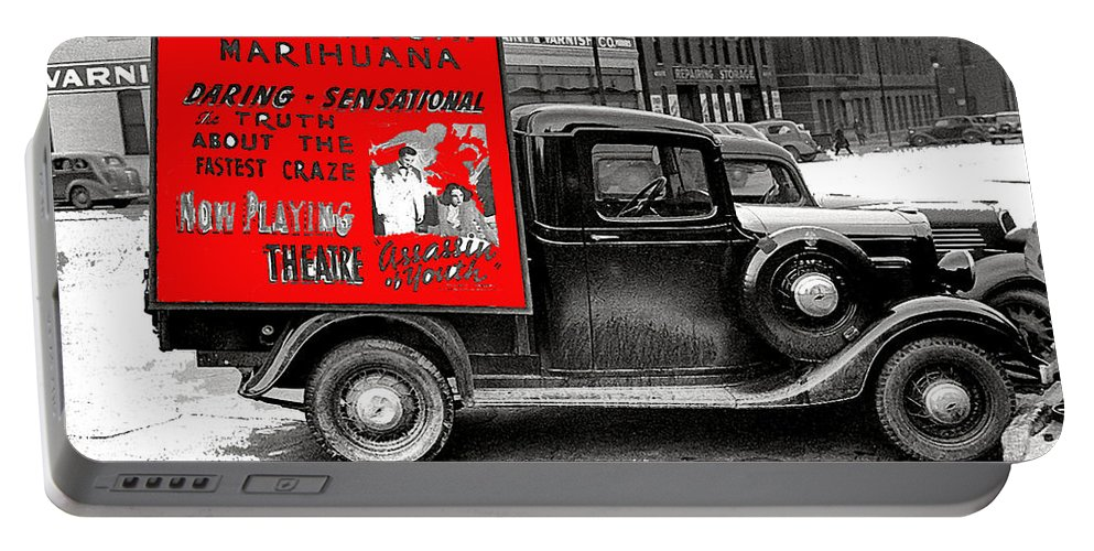 Film Homage Assassin Of Youth 1938 John Vachon Omaha Nebraska 1937-2010 Dwain Espair Color Added Portable Battery Charger featuring the photograph Film Homage Assassin Of Youth 1937 John Vachon Omaha Nebraska 1937-2010 Dwain Espair by David Lee Guss