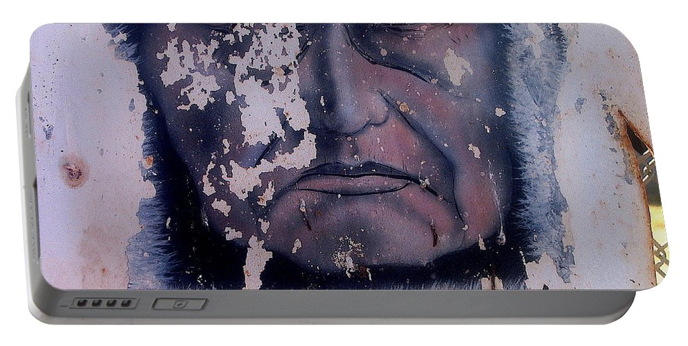 Film Homage Iron Eyes Cody The Big Trail 1930 Crying Indian Black Canyon Arizona 2004-2008 Portable Battery Charger featuring the photograph Film Homage Iron Eyes Cody The Big Trail 1930 Crying Indian Black Canyon Arizona 2004-2008 by David Lee Guss