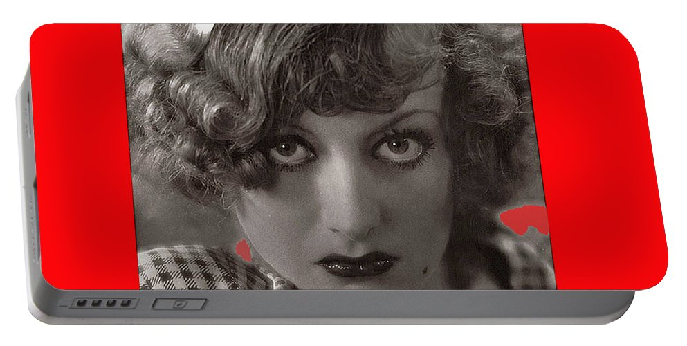 Film Homage Joan Crawford Louis Milestone Rain 1932 Collage Color Added 2010 Portable Battery Charger featuring the photograph Film Homage Joan Crawford Louis Milestone Rain 1932 Collage Color Added 2010 by David Lee Guss