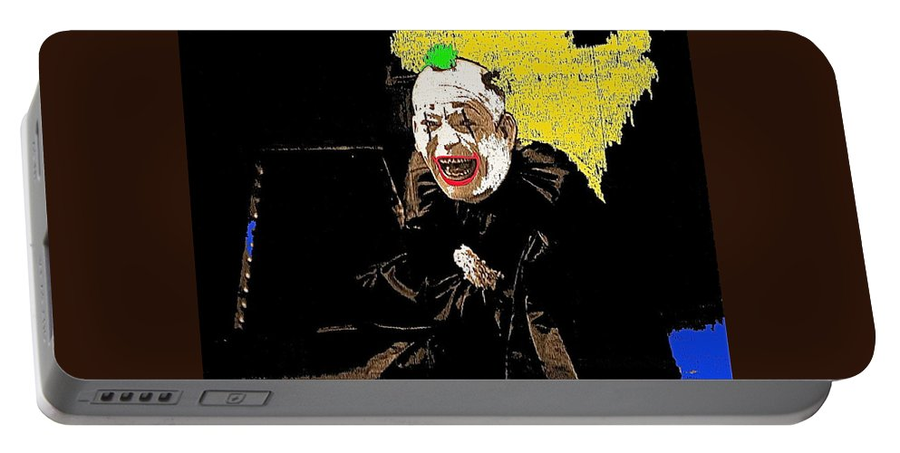 Film Homage Lon Chaney He Who Gets Slapped 1924 Color Added 2008 Portable Battery Charger featuring the photograph Film Homage Lon Chaney He Who Gets Slapped 1924 Color Added 2008 by David Lee Guss