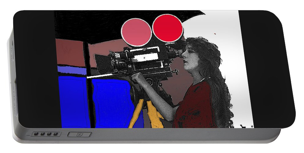 Film Homage Mary Pickford Little Annie Rooney 1923 Color Added 2010 Portable Battery Charger featuring the photograph Film Homage Mary Pickford Little Annie Rooney 1923 Color Added 2010 by David Lee Guss