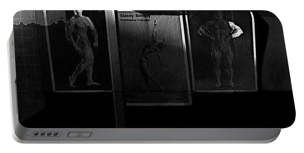 Film Noir Richard Widmark Night And The City 1950 2 Johnny Gibson Health & Gym Equipment Tucson Arizona 1982-2008 Portable Battery Charger featuring the photograph Film Noir Richard Widmark Night And The City 1950 2 Johnny Gibson Health And Gym Equipment Tucson Az by David Lee Guss
