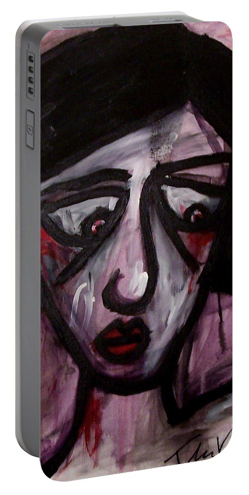 Portait Portable Battery Charger featuring the painting Finals by Thomas Valentine