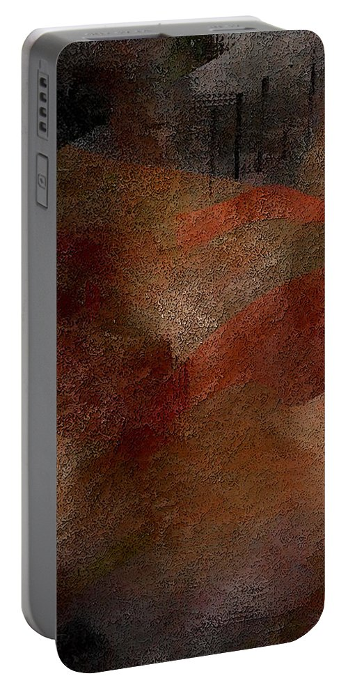 Abstract Portable Battery Charger featuring the digital art Finding My Voice by James Barnes