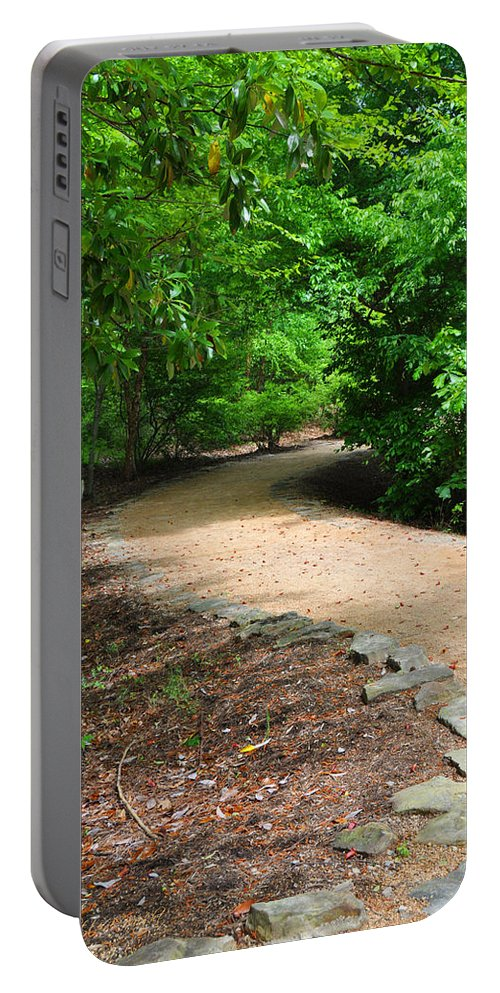 Wright Portable Battery Charger featuring the photograph Finding The Way - Yates Mill by Paulette B Wright