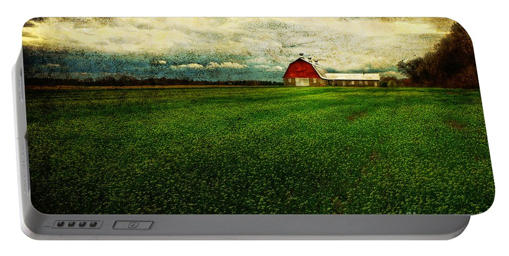 Barn Portable Battery Charger featuring the photograph Finished by Lois Bryan