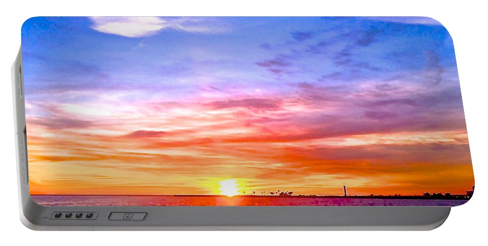 Whittle Photography Portable Battery Charger featuring the photograph Fire And Water by Dee Dee Whittle