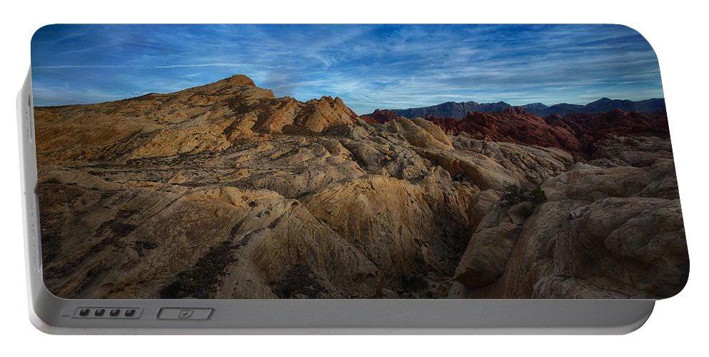 Nevada Portable Battery Charger featuring the photograph Fire Canyon Twilight by Rick Berk