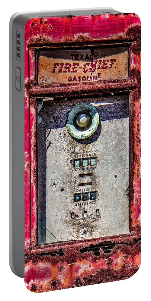 Fire Chief Portable Battery Charger featuring the photograph Fire Chief Gas by Steven Bateson