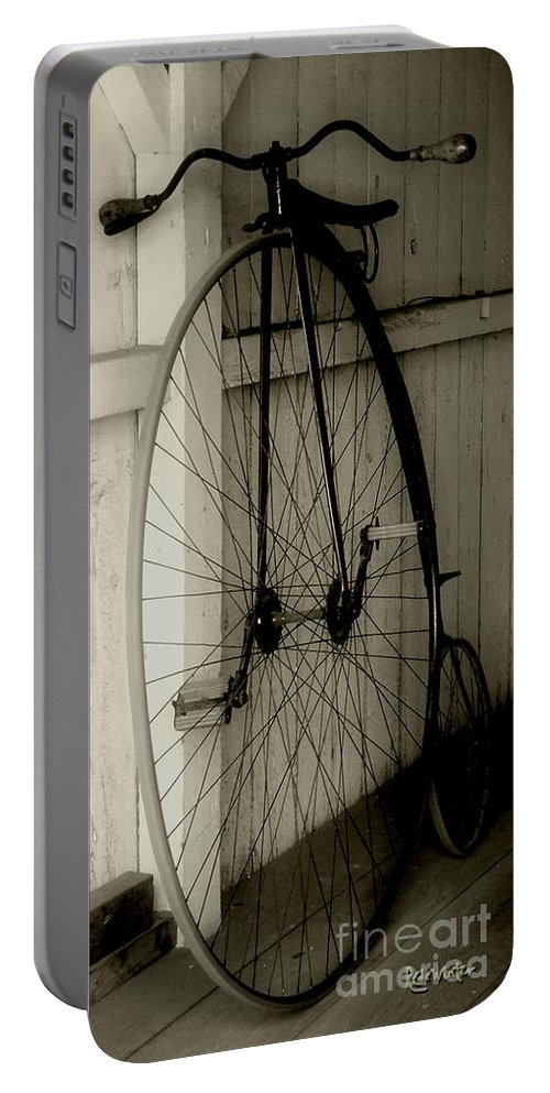 Velocipede Portable Battery Charger featuring the photograph Firehouse Velocipede by RC DeWinter