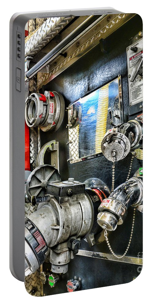 Fireman Portable Battery Charger featuring the photograph Fireman - Control Panel by Paul Ward