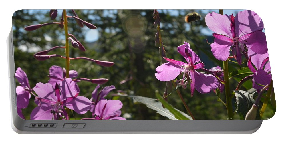 Fireweed Number 10 Portable Battery Charger featuring the photograph Fireweed Number 10 by Brian Boyle