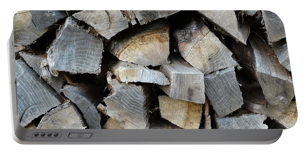 Wood Portable Battery Charger featuring the photograph Firewood by Joseph Baril