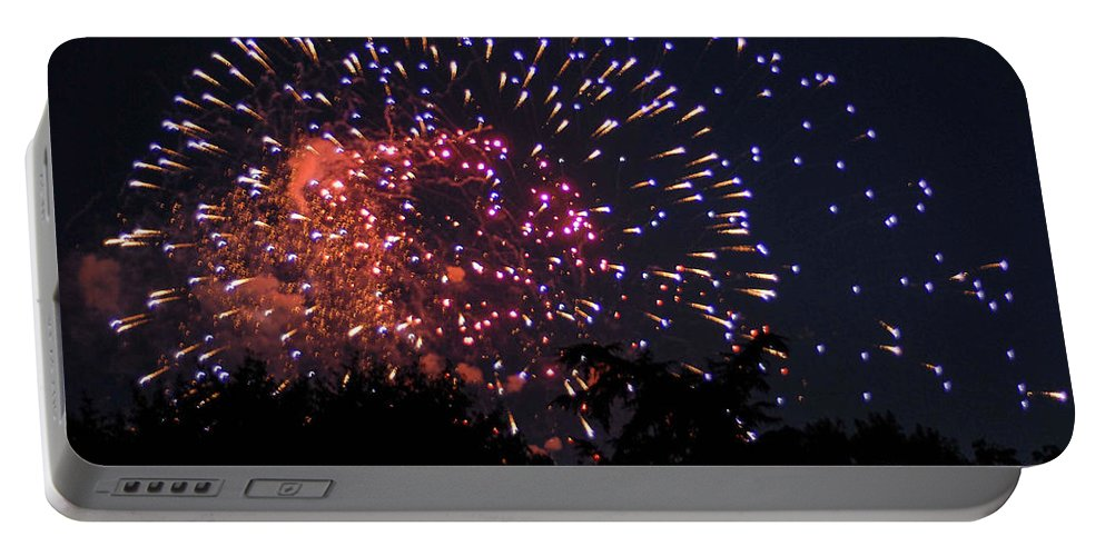 Fireworks Portable Battery Charger featuring the photograph Fireworks 2014 3 by Wesley Farnsworth