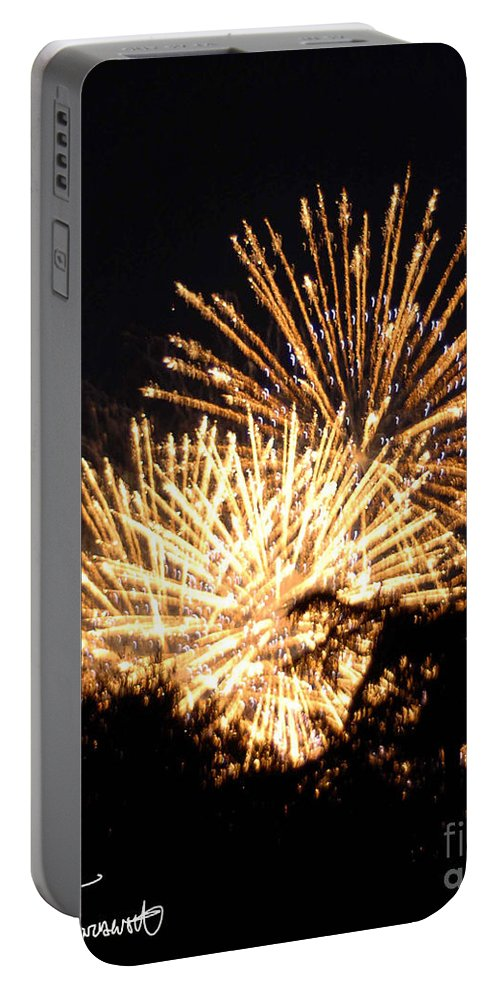 Fireworks Portable Battery Charger featuring the photograph Fireworks 2014 8 by Wesley Farnsworth