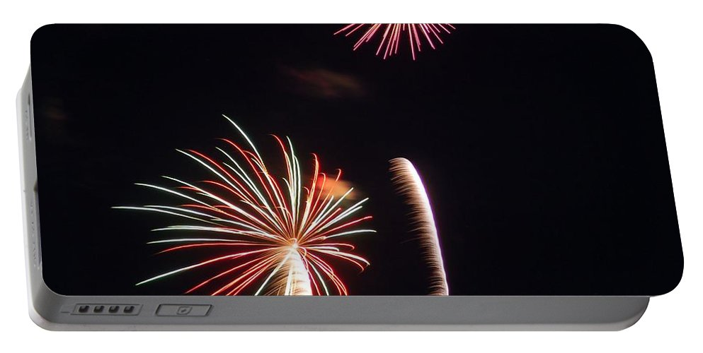 Fireworks Portable Battery Charger featuring the photograph Fireworks by Kathy McCabe