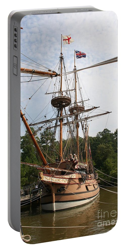 Sailing Boat Portable Battery Charger featuring the photograph First Arrivals by Christiane Schulze Art And Photography