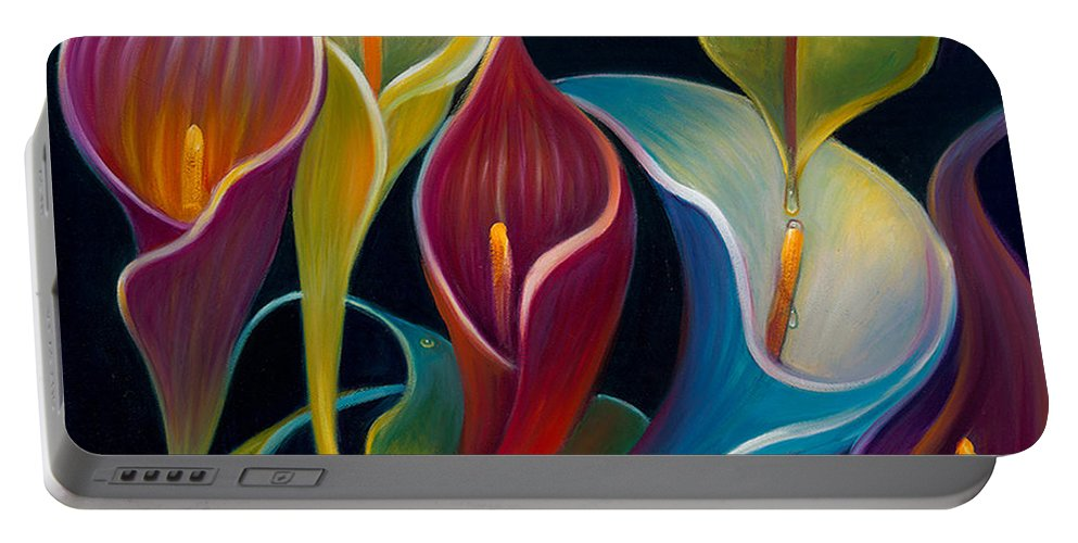 Flower Portable Battery Charger featuring the photograph First Flight 2 by Claudia Goodell