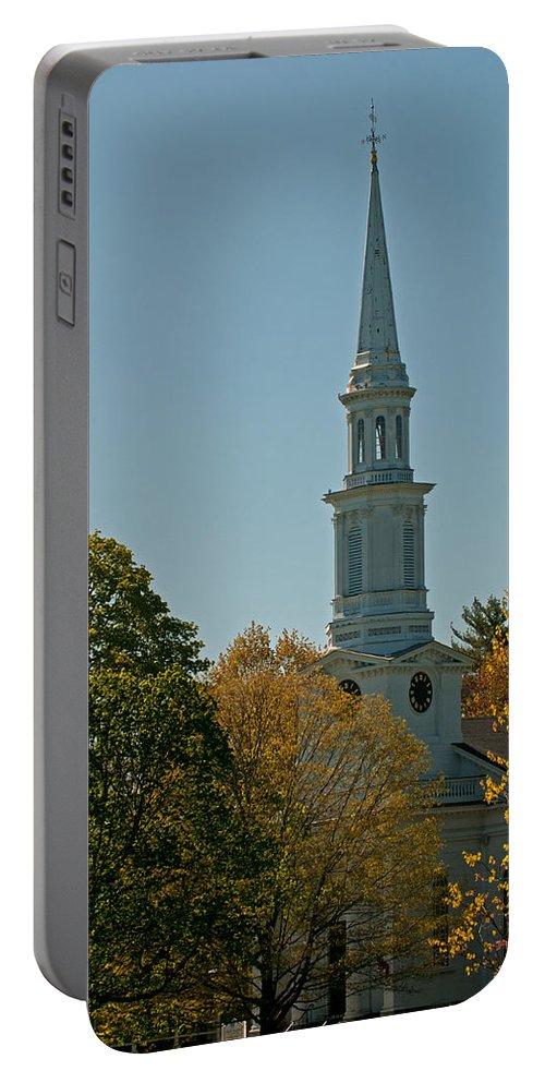 first Parish - Lexington Portable Battery Charger featuring the photograph First Parish - Lexington by Paul Mangold