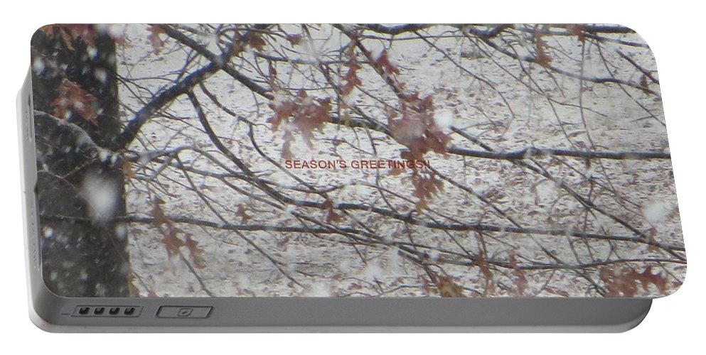 Winter Season Portable Battery Charger featuring the photograph First Snowfall by Sonali Gangane