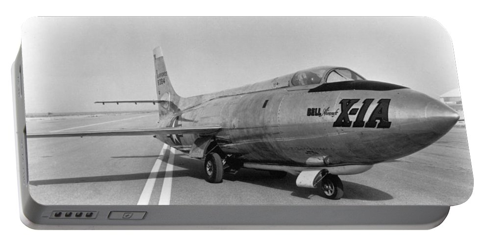 Science Portable Battery Charger featuring the photograph First Supersonic Aircraft, Bell X-1 by Science Source