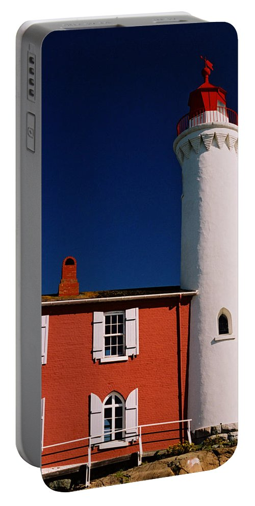 Lighthouse Portable Battery Charger featuring the photograph Fisgard Lighthouse by Michele Wright