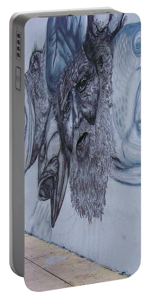 Graffiti Portable Battery Charger featuring the photograph Fish Heads by Chuck Hicks