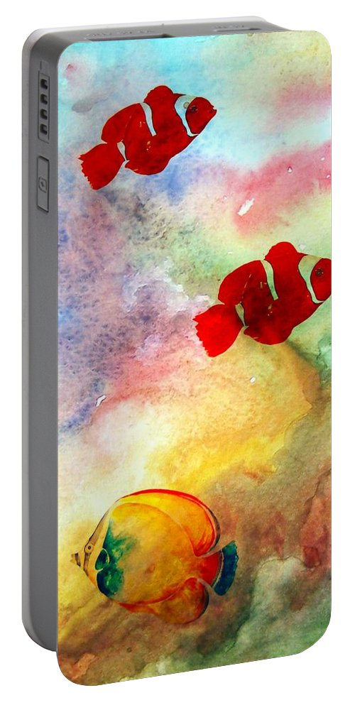 Fish Portable Battery Charger featuring the photograph Fish In The Sea by Athala Carole Bruckner