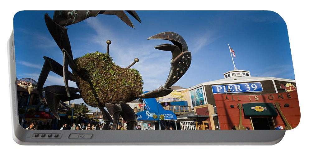Fishermans Wharf Portable Battery Charger featuring the photograph Fishermans Wharf Crab by David Smith