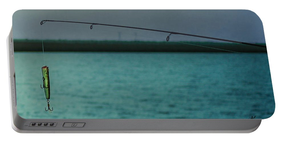 Fishing Tackle Portable Battery Charger featuring the photograph Fishin' Tackle by Mechala Matthews